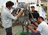 Sculpting the Deacon.