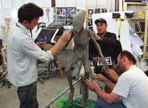 Sculpting the Deacon.