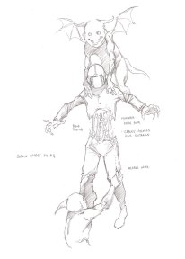 Concept art showing the dismemberment action.