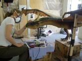 Minor touch-ups are applied to the 'closed mouth' maquette.