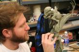 Clint Zoccoli sculpts the Pilot maquette.