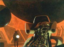 Concept art of the Pilot by Ron Cobb.
