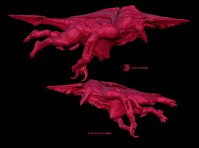 Early Knifehead CGI model.