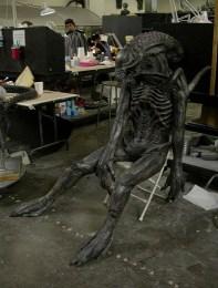 Stunt Alien dummy.