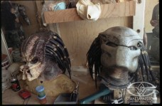 Predator heads, masked and unmasked.