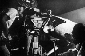The close-up head during filming.