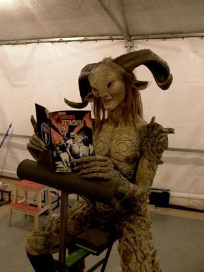 The Faun loves reading magazines...