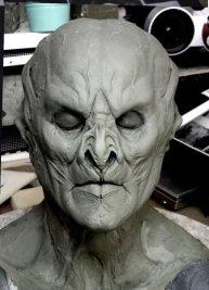The final Marcus face sculpture.