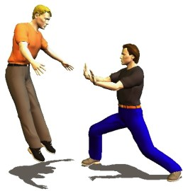 Tai Chi Chuan masters use chi energy to propel bodies away without force.