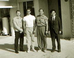 From the Hawaiian Karate Museum, John D. Pell collection. John Pell, Don Buck, Mas Oyama, Gosei Yamaguchi.