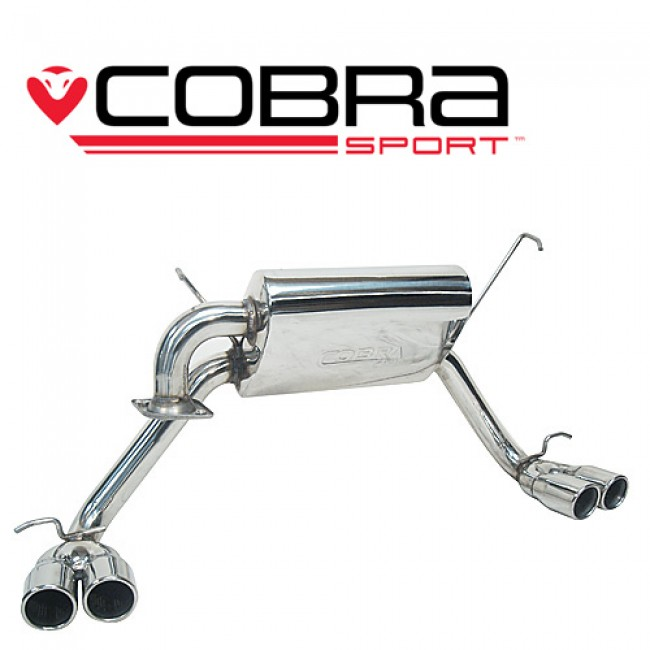 cobra exhaust ty06 toyota mr2 roadster 99 07 cat back exhaust quad exit