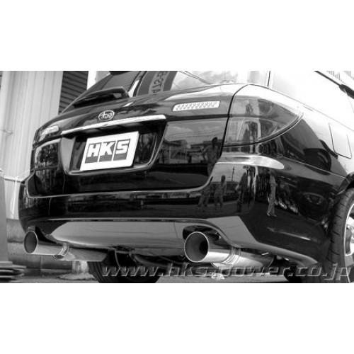 hks 31019 af018 subaru legacy 03 10 ez30 3 0l touring wagon 4wd petrol hks silent hi power exhaust