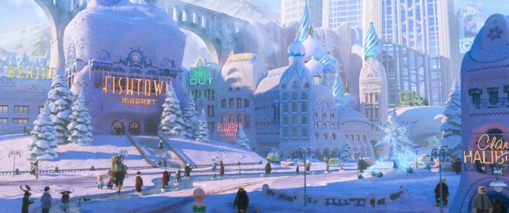 Zootopia città inverno Disney