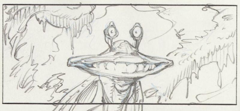 Jar Jar Binks storyboard di Star Wars