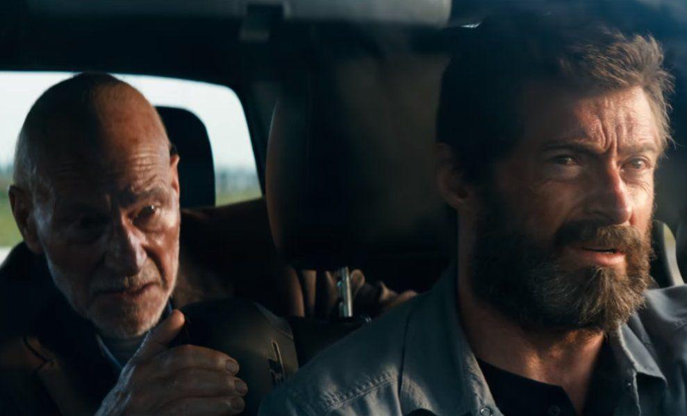 Hugh Jackman Patrick Stewart in Logan
