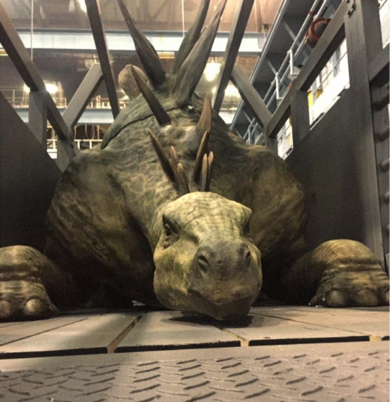 stegosaur jurassic world 2 animatronic leaked