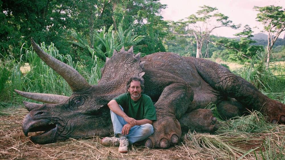 Steven Spielberg Triceratopo Jurassic Park