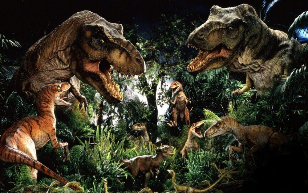 Jurassic Park T-Rex e Raptor