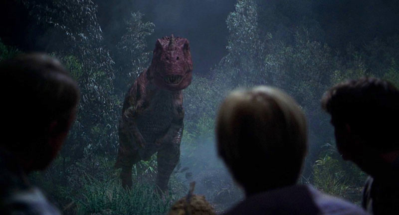 Ceratosauro scena incontro Jurassic Park 3