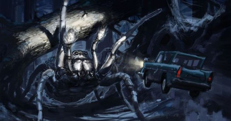 Concept art dell'Acromantula