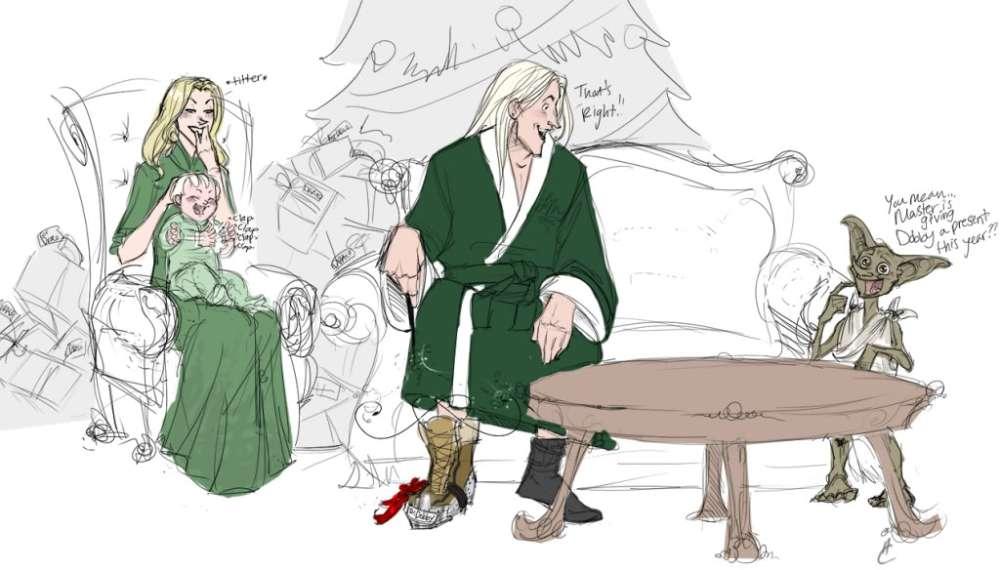 Elfo domestico e famiglia di Natale