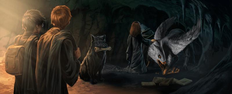 Caverna di Hogsmeade con Sirius e Fierobecco