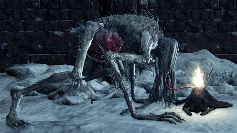 Bloodborne mostro Leccasangue
