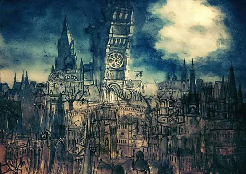 Bloodborne Yarnham artwork