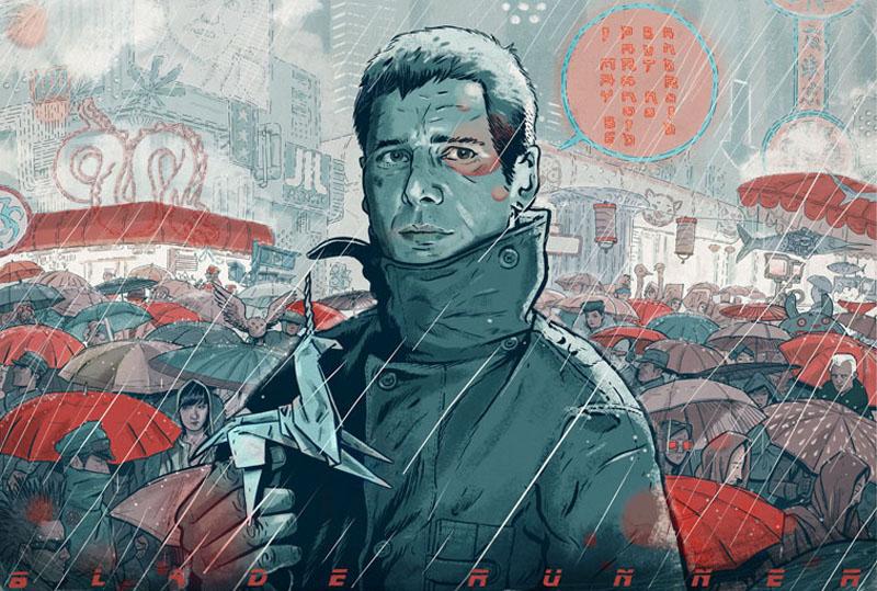 Rick Deckard Blade Runner art