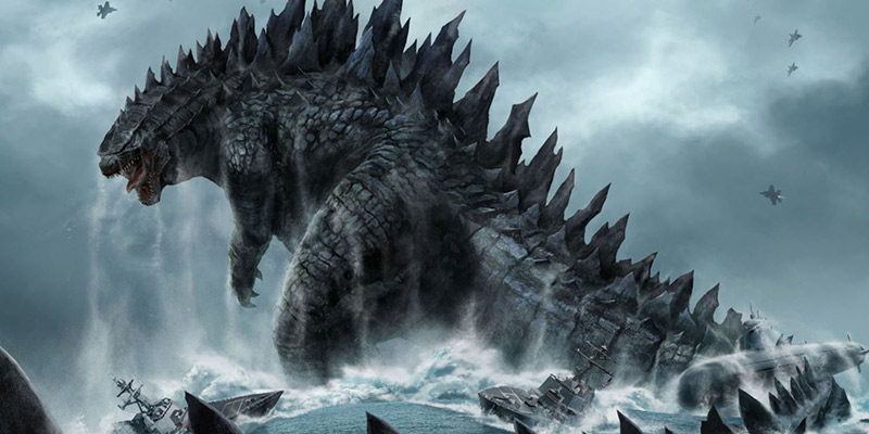 Godzilla 2014 art Monster Movie