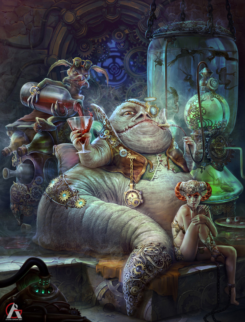 Jabba the Hutt fan art