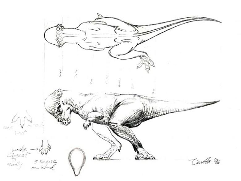 JP2 Pachycephalosaurus bozzetto