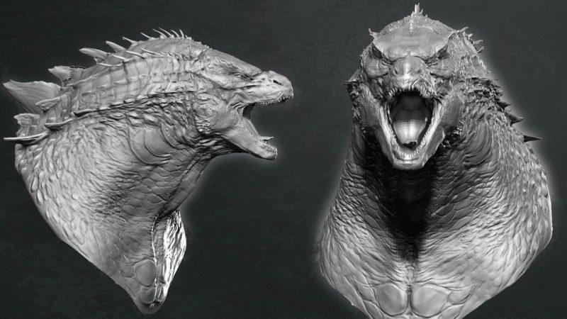 Godzilla concept art faccia