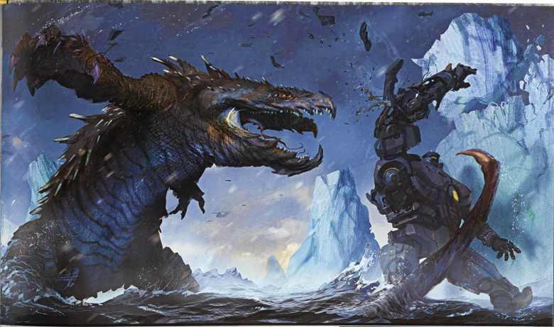 Concept di Raiju contro uno Jaeger