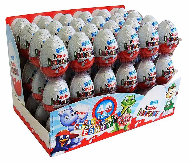 Confezione ovetti Kinder 72 pezzi