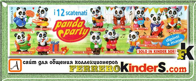Panda Party Kinder Ferrero