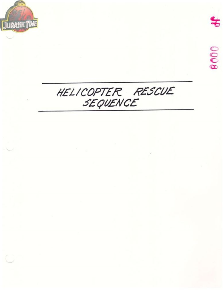 finale alternativo jurassic park elicottero
