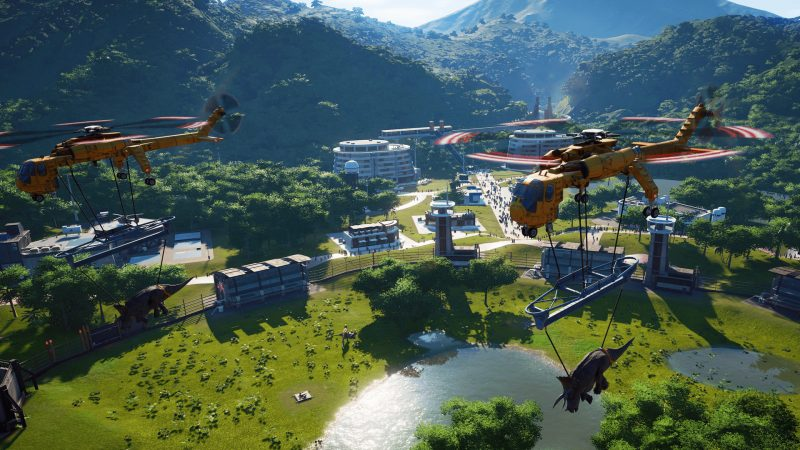Jurassic World Evolution videogioco screenshot