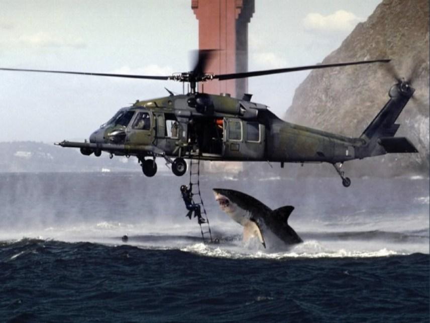 attacco squalo a elicottero