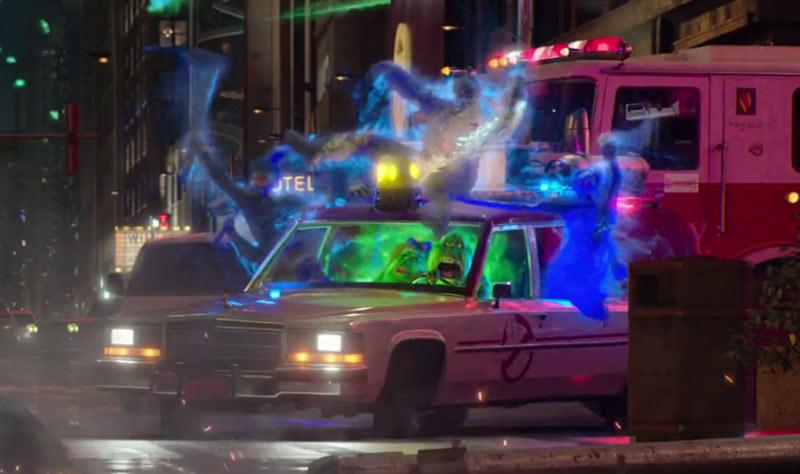 Spettri in auto Ghostbusters