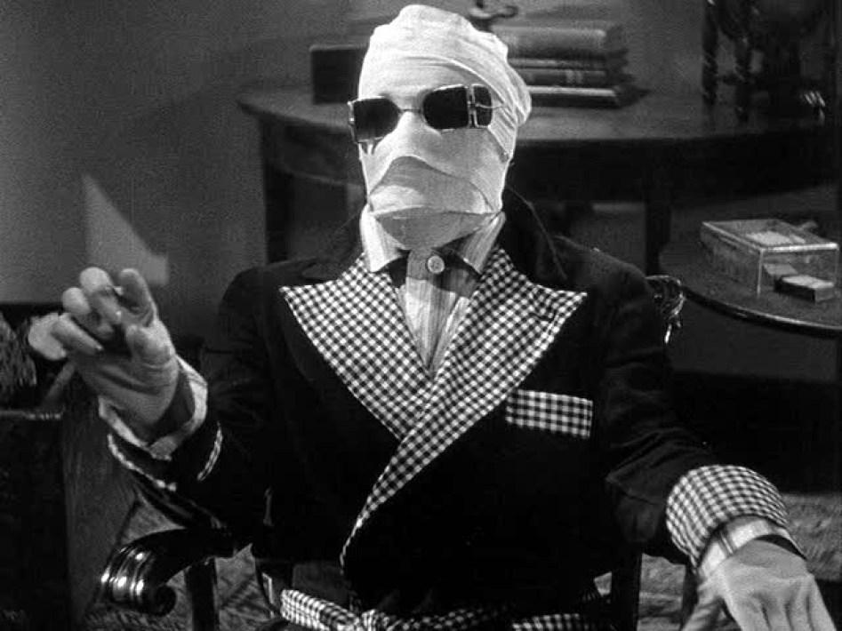 Claude Rains come Uomo invisibile