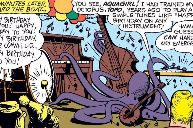 Aquaman Topo Octopus fumetti