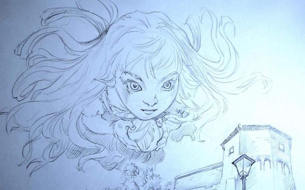 Azzurrina fantasma disegno amatoriale