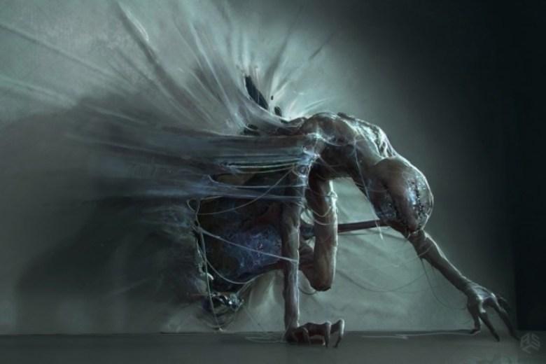 Stranger Things concept art del Demogorgone