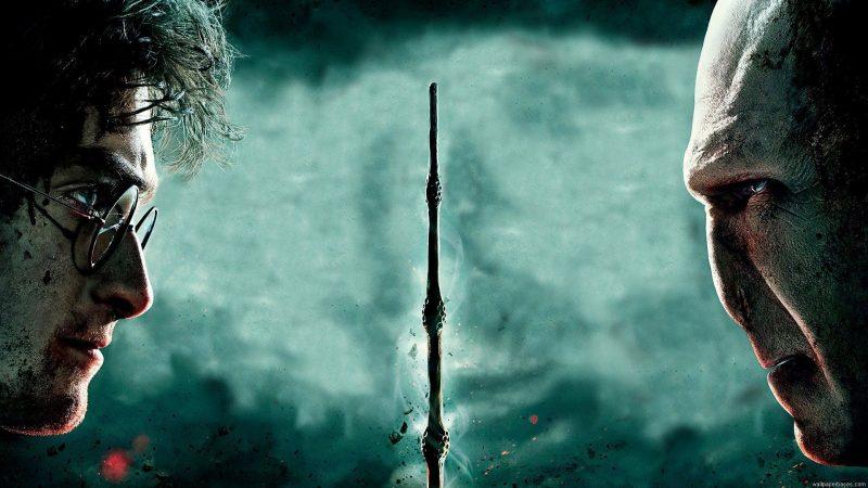 Harry Potter e i Doni della Morte poster con Voldemort