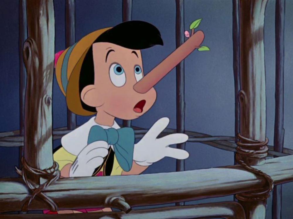 Pinocchio scena naso lungo