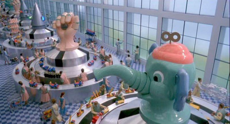 Toys giocattoli scena fabbrica