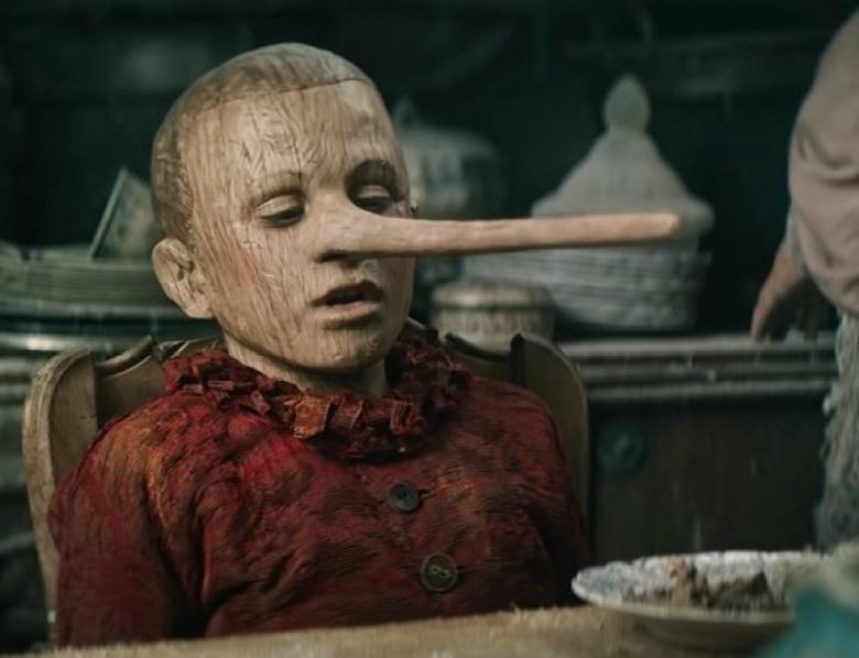 Pinocchio protagonista con naso lungo