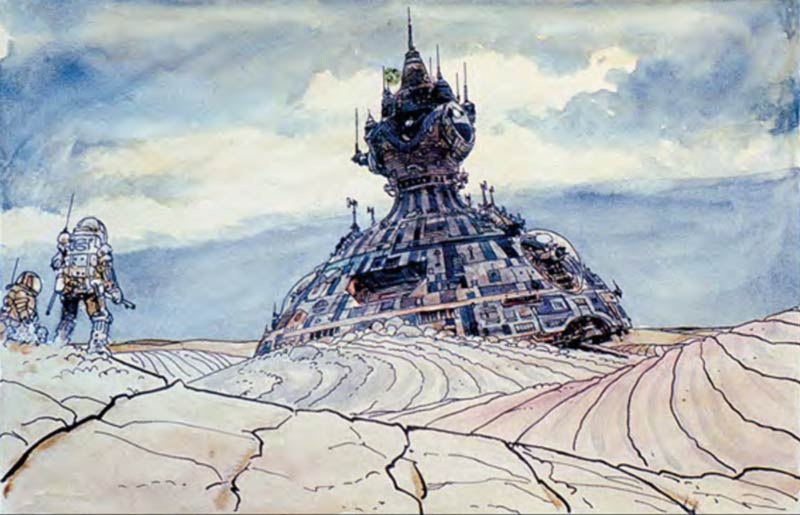 Concept art di Moebius per Alien