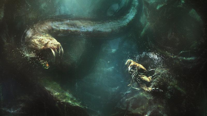 Mostro acquatico monster movie scena